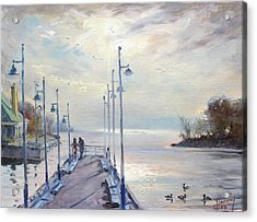 Early Morning In Lake Shore Acrylic Print