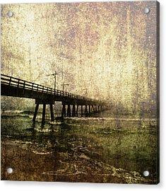 Early Morning Pier Acrylic Print by Skip Nall
