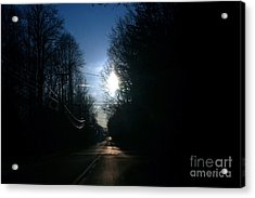 Early Morning Rural Road Acrylic Print by Susan Stevenson