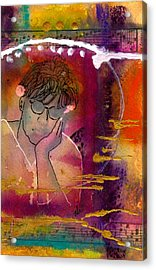 Early Morning Songwriter Acrylic Print by Angela L Walker