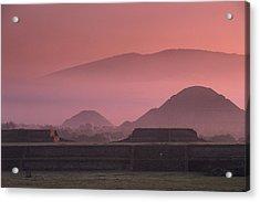 Early Morning View Of The Sun Pyramid Acrylic Print by Kenneth Garrett