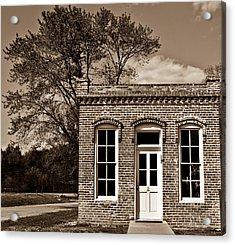 Early Office Building Acrylic Print by Douglas Barnett
