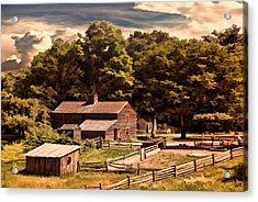 Early Settlers Acrylic Print