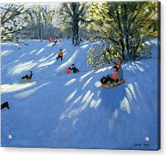 Early Snow Acrylic Print by Andrew Macara