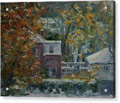 Early Snow Hartford Acrylic Print