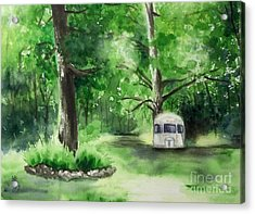 Acrylic Print featuring the painting Early Summer At The Geddes Farm --ann Arbor Michigan by Yoshiko Mishina