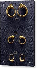 Earrings Acrylic Print by Andonis Katanos