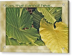 Ears That Cannot Hear... Acrylic Print by Larry Bishop