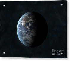 Earth Acrylic Print by Carbon Lotus