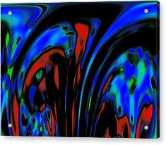 Earth Destruction Acrylic Print by Steve K