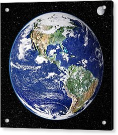 Earth From Space, Satellite Image Acrylic Print by Nasa Goddard Space Flight Center (nasa-gsfc)