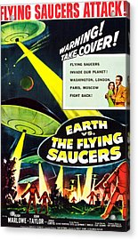 Earth Vs. The Flying Saucers, 1956 Acrylic Print by Everett