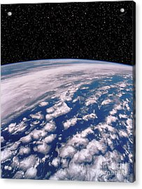 Earth With Starfield Acrylic Print by NASA / Science Source