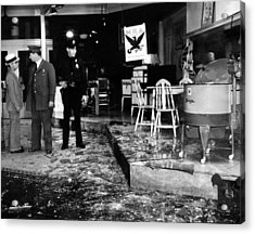 Earthquake Damages A Store In The Heart Acrylic Print by Everett