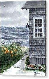 East Chop Storm Acrylic Print by Paul Gardner