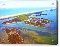 East Coast Aerial Digital Oil Acrylic Print