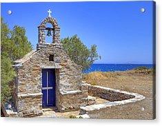 east coast Naxos Acrylic Print by Joana Kruse