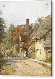 East Hagbourne Berkshire Acrylic Print by Helen Allingham