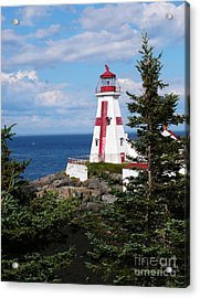 East Quoddy Head Lighthouse Acrylic Print by Jeanne  Woods