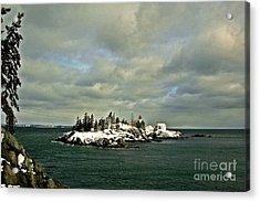 East Quoddy Lighthouse Acrylic Print by Alana Ranney