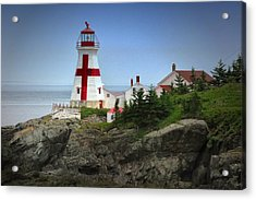 East Quoddy Lighthouse Acrylic Print by Robert Wicker