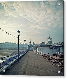 Eastbourne Pier Promenade Acrylic Print by Paul Grand Image