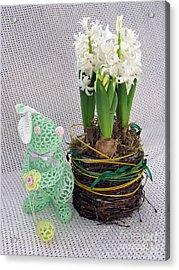 Easter Bunny Greeting Acrylic Print