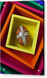 Easter Egg In Box Acrylic Print by Garry Gay