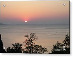Easter Sunrise In Yorktown Acrylic Print by Marilyn West