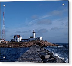 Eastern Point Light Acrylic Print by Mike Martin