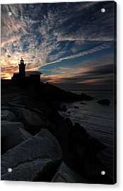 Eastern Point Lighthouse At Sunrise Acrylic Print by Dave Sribnik