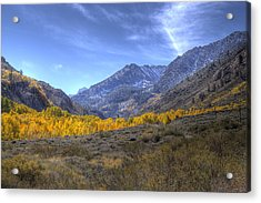 Acrylic Print featuring the photograph Eastern Sierras In Fall by Michele Cornelius