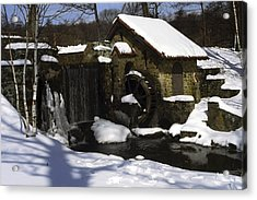 Eastern University Waterwheel Historic Place Acrylic Print