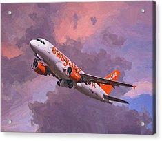 easyJet Airbus A319 take off Acrylic Print