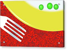 Eat Your Peas Acrylic Print by Richard Rizzo