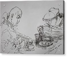 Eaters Acrylic Print by Ylli Haruni