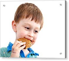 Eating Biscuit Acrylic Print by Tom Gowanlock
