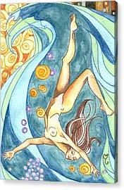 Ebb Acrylic Print by Caroline Moses