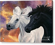 Ebony And Ivory Acrylic Print