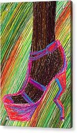 Ebony In High Heels Acrylic Print by Kenal Louis