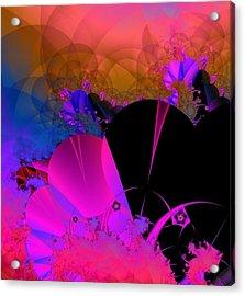 Acrylic Print featuring the digital art Echos by Ann Peck