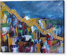 Acrylic Print featuring the painting Economic Meltdown by Judith Rhue