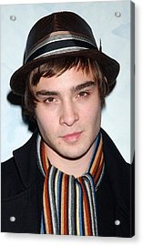 Ed Westwick At Arrivals For Opening Acrylic Print by Everett