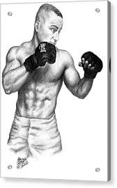 Eddie Alvarez - Bellator Champion Acrylic Print by Audrey Snead