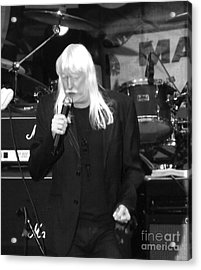 Acrylic Print featuring the photograph Edgar Winter by Gary Brandes