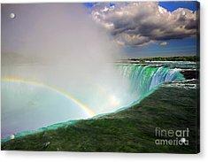 Edge Of Niagara Falls  Acrylic Print by Charline Xia