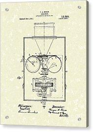Edison Kinetoscope 1911 I Patent Art Acrylic Print by Prior Art Design