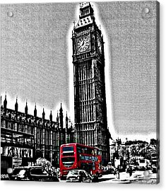 Edited Photo, May 2012 | #london Acrylic Print by Abdelrahman Alawwad