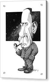 Edwin Hubble, Us Astronomer Acrylic Print by Gary Brown