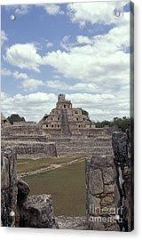 Edzna Mayan Ruins Acrylic Print by John  Mitchell
